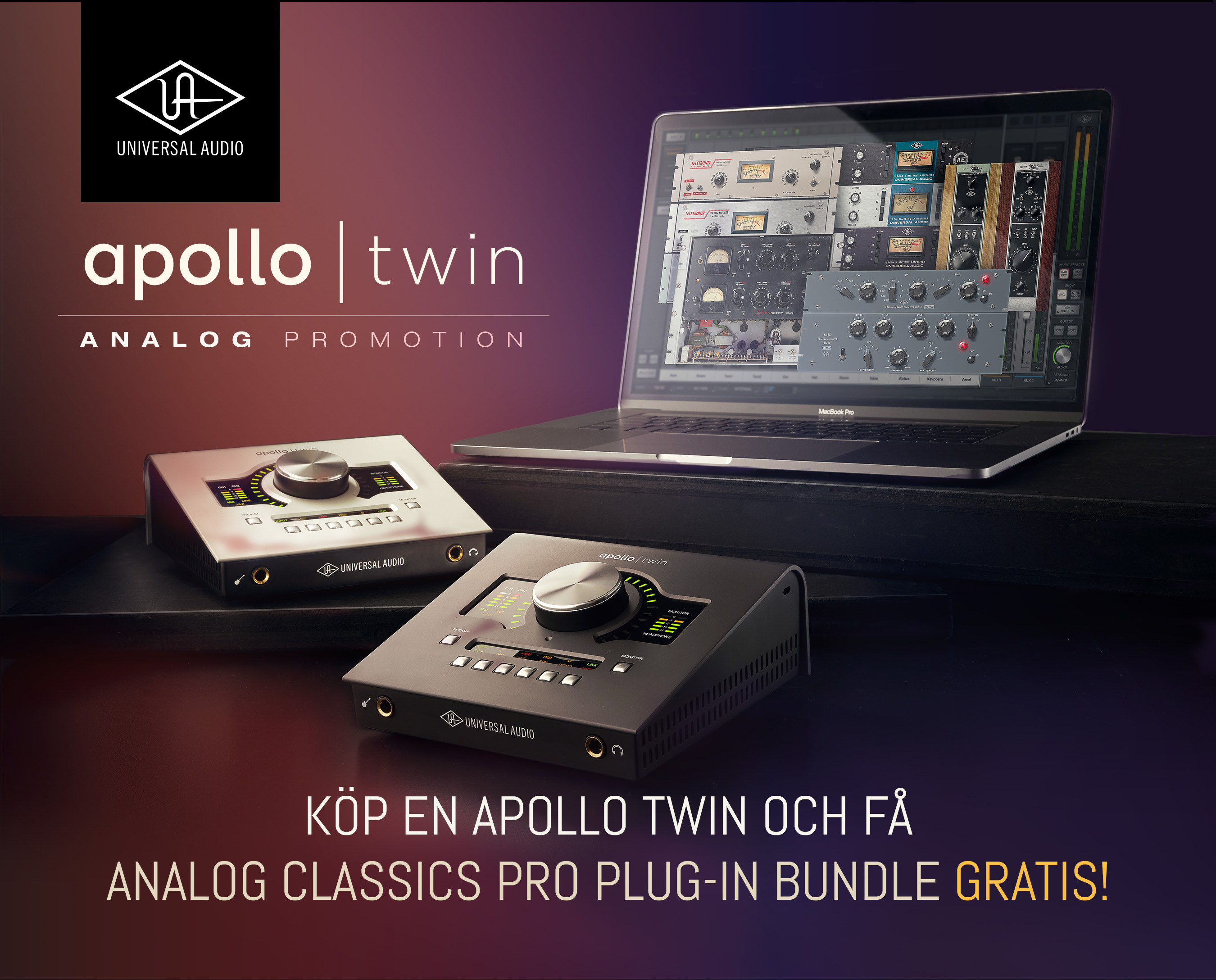 Apollo Twin Analog Promotion