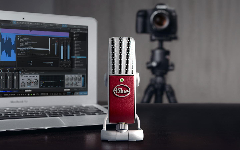 Blue Raspberry Studio – USB-mikrofon som minimerar bakgrundsljud