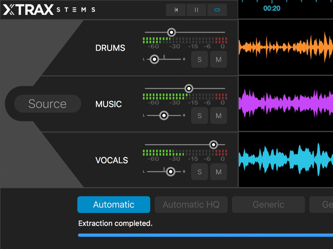 Audionamix XTRAX STEMS – Nu även till Windows