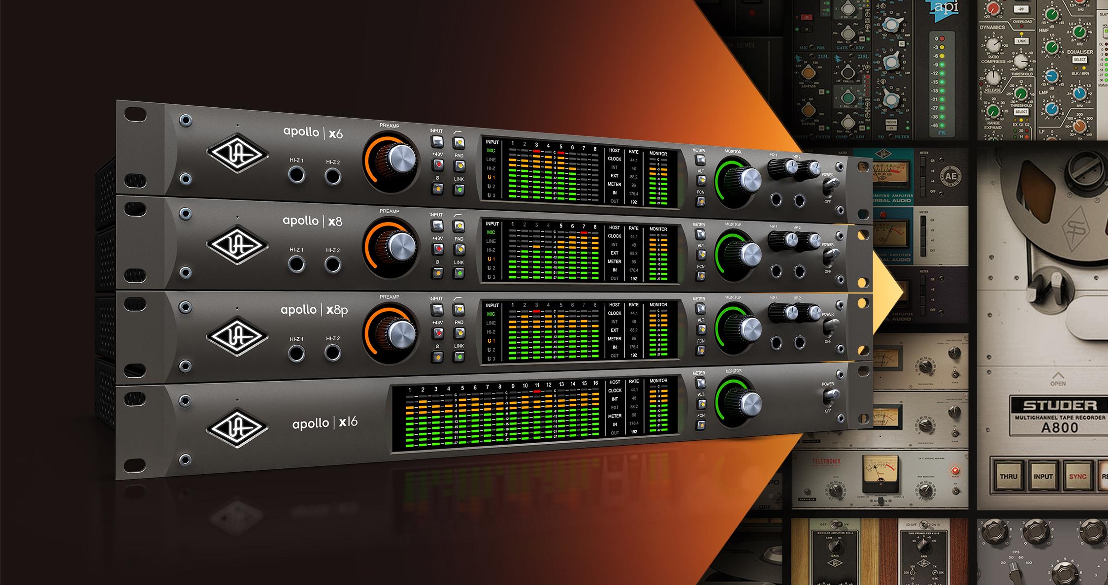 Universal Audio lanserar Apollo X – Nu med Thunderbolt 3, stöd för surround, 6st DSP och mycket mer.