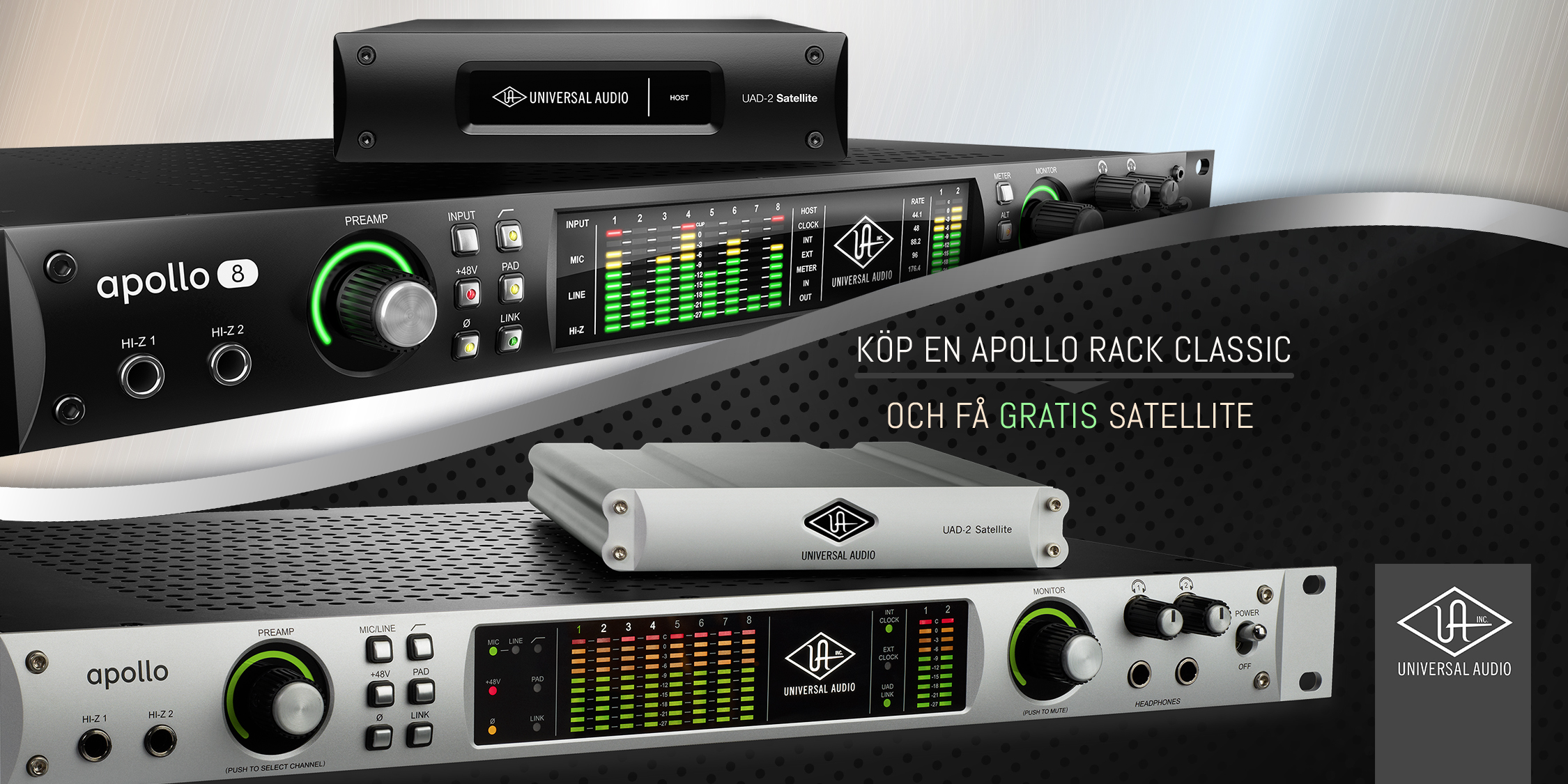 Universal Audio Kampanj – Köp Apollo Rack Classic och få gratis UAD-2 Satellite
