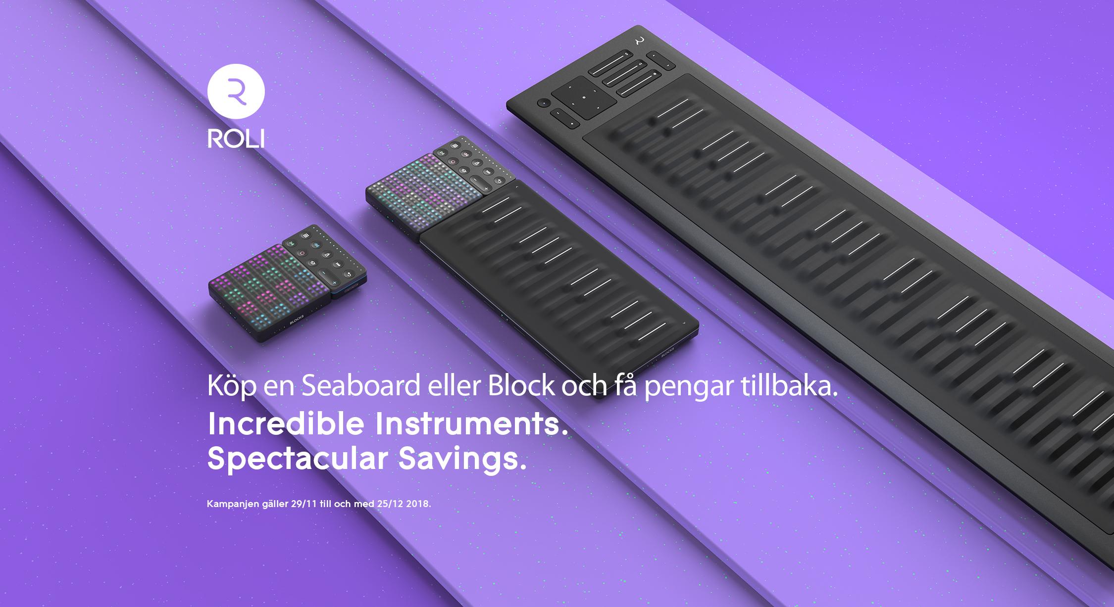ROLI kampanj – Köp Seaboard eller Block och få pengar tillbaka