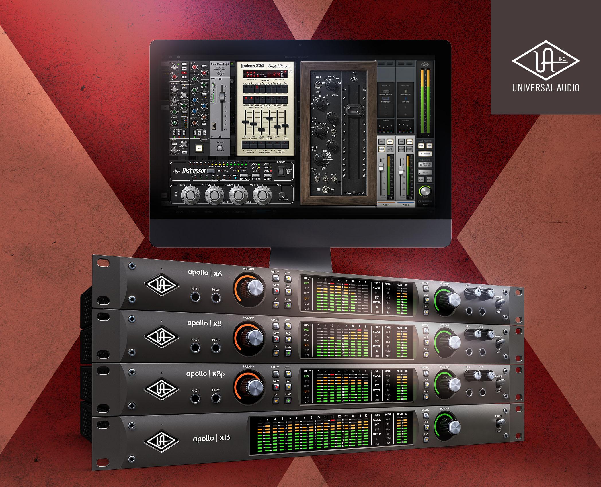 Universal Audio kampanj – Köp Apollo X och få gratis plug-ins från Helios, SSL, Lexicon m.fl.