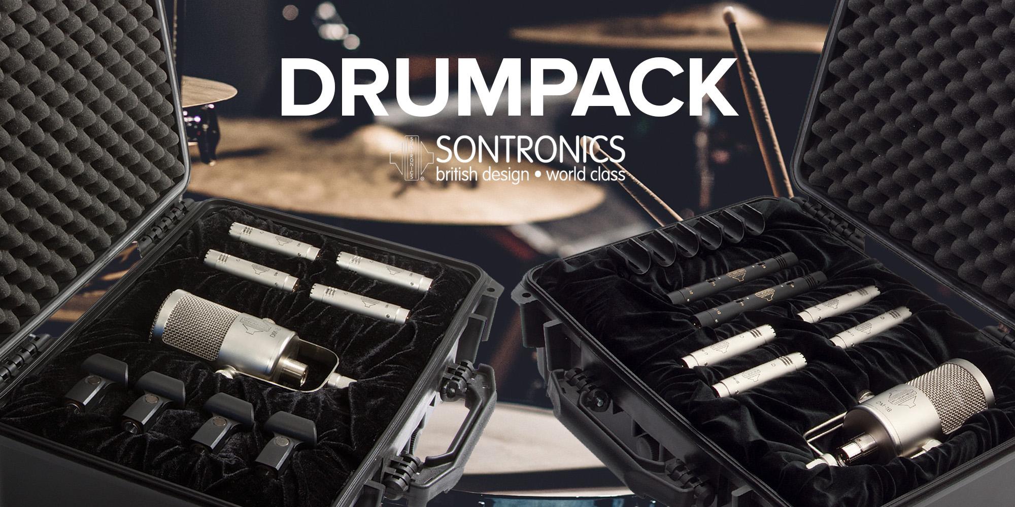Sontronics DRUMPACK – Paket av prisbelönade trummikrofoner