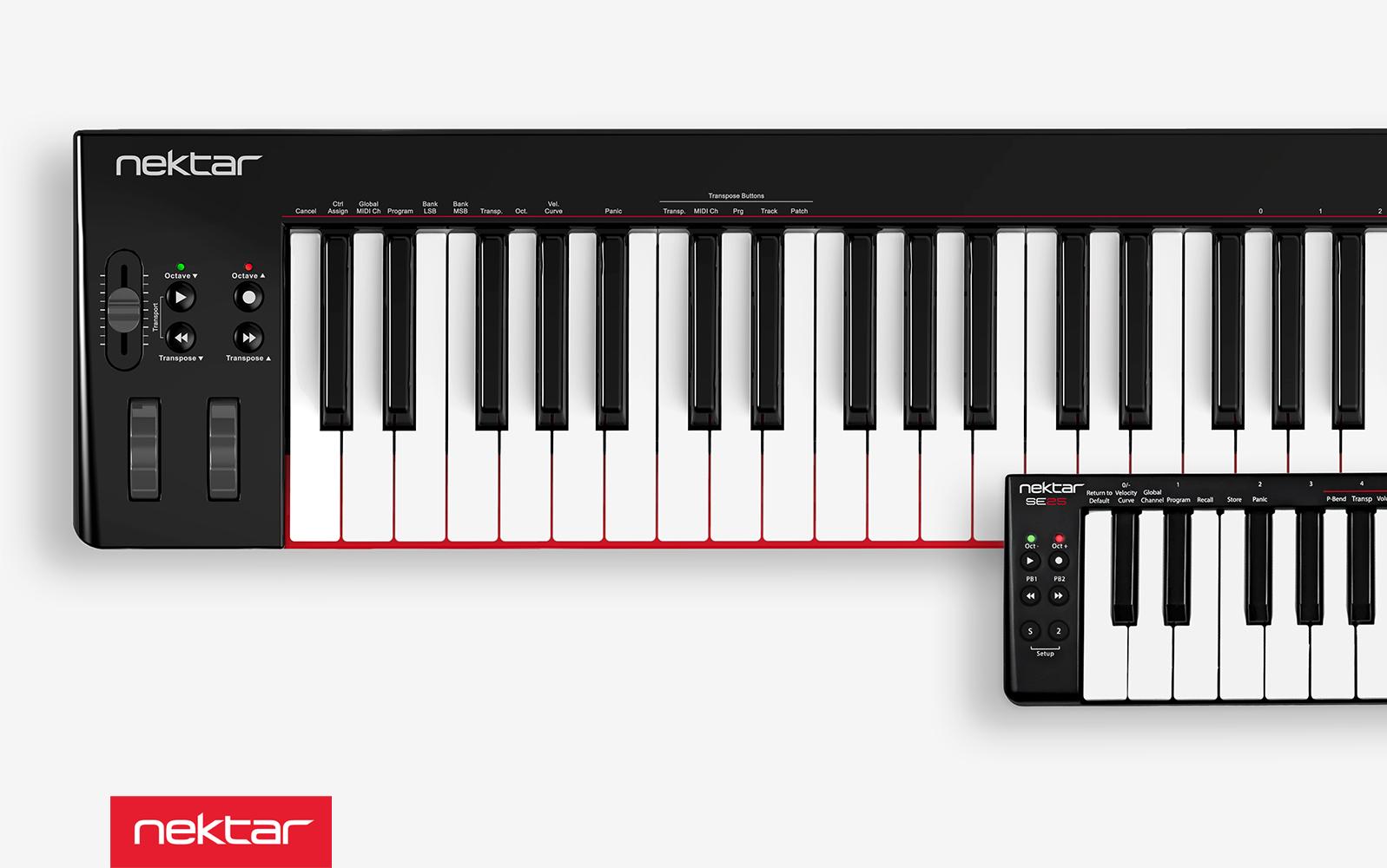 Nektar lanserar ny serie av kompakta USB-keyboards – SE25 och SE49