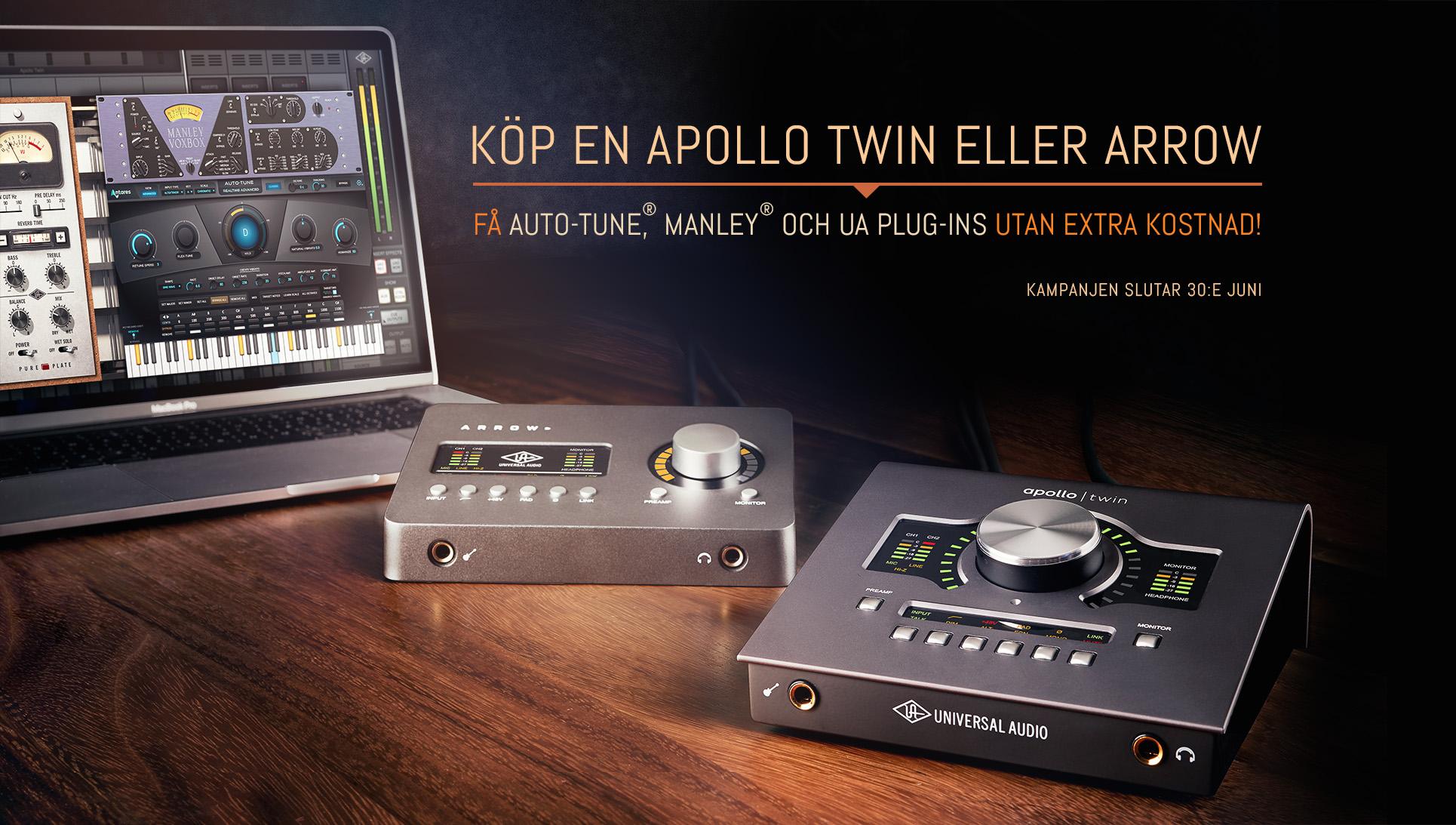 Universal Audio kampanj – Köp Apollo Twin eller Arrow och få Auto-Tune, Manley och UA plug-ins utan extra kostnad