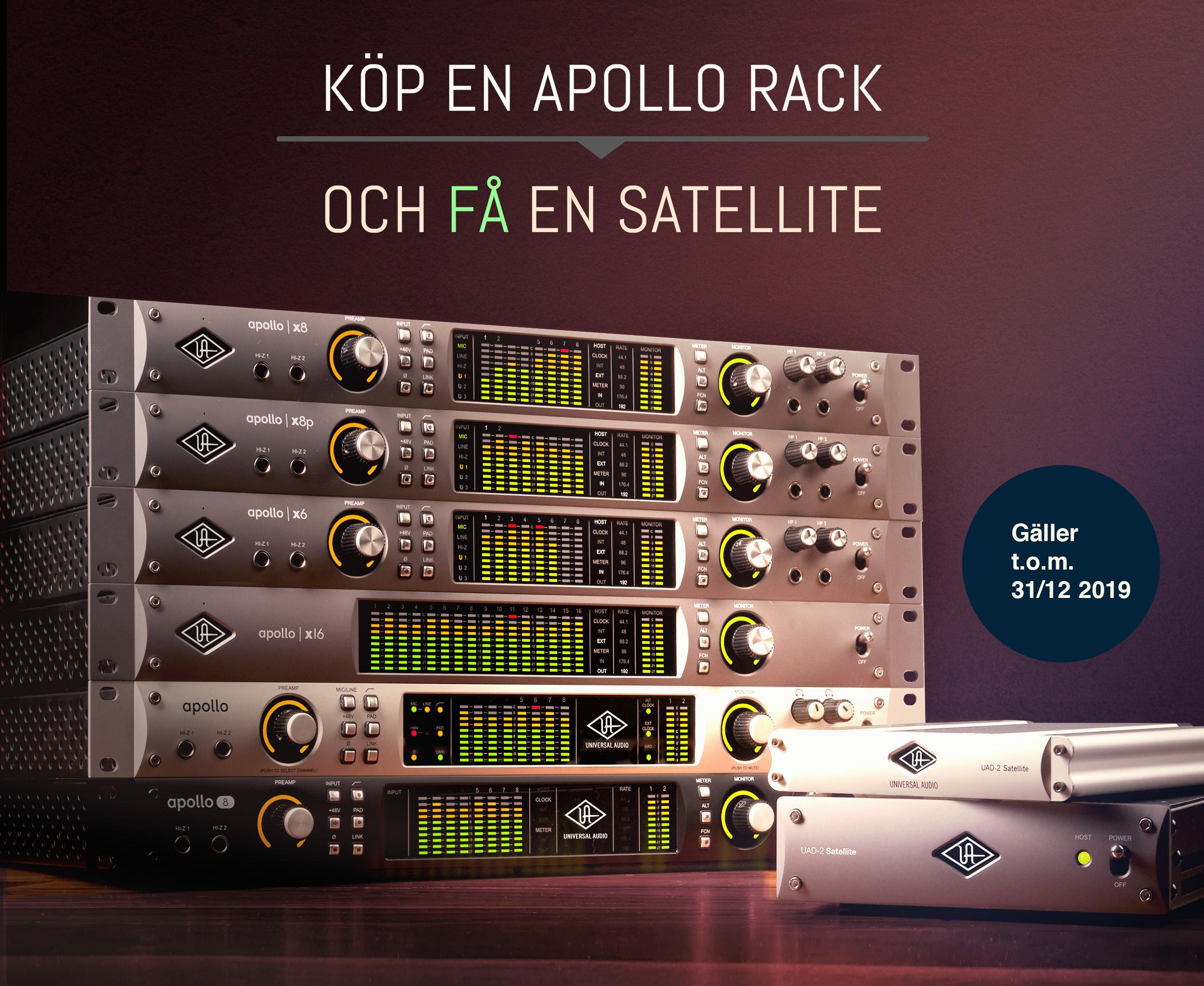 Universal Audio kampanj – Köp Apollo rack och få Satellite utan extra kostnad
