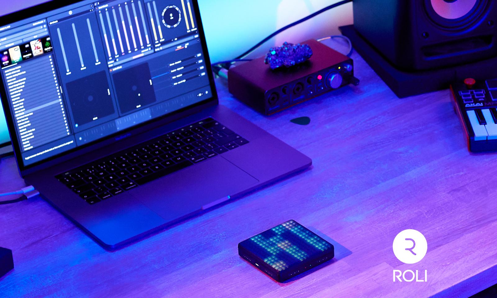 ROLI lanserar Lightpad Studio Edition plus ROLI Studio Drums, världens första trummjukvara med MPE-stöd