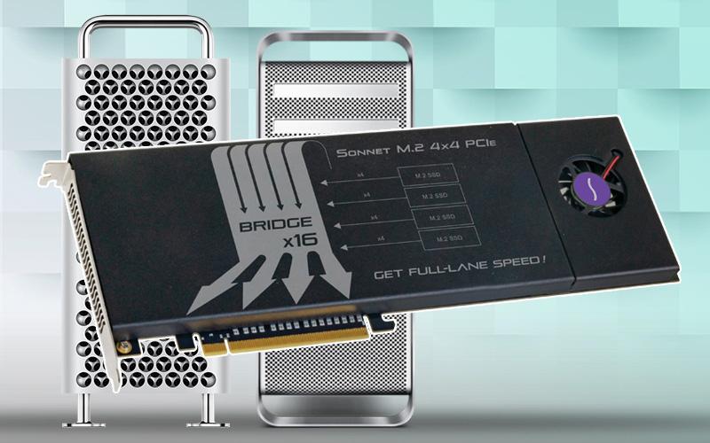 Sonnet M.2 4×4 PCIe Card – Överföringshastighet på upp till 8GB per sekund