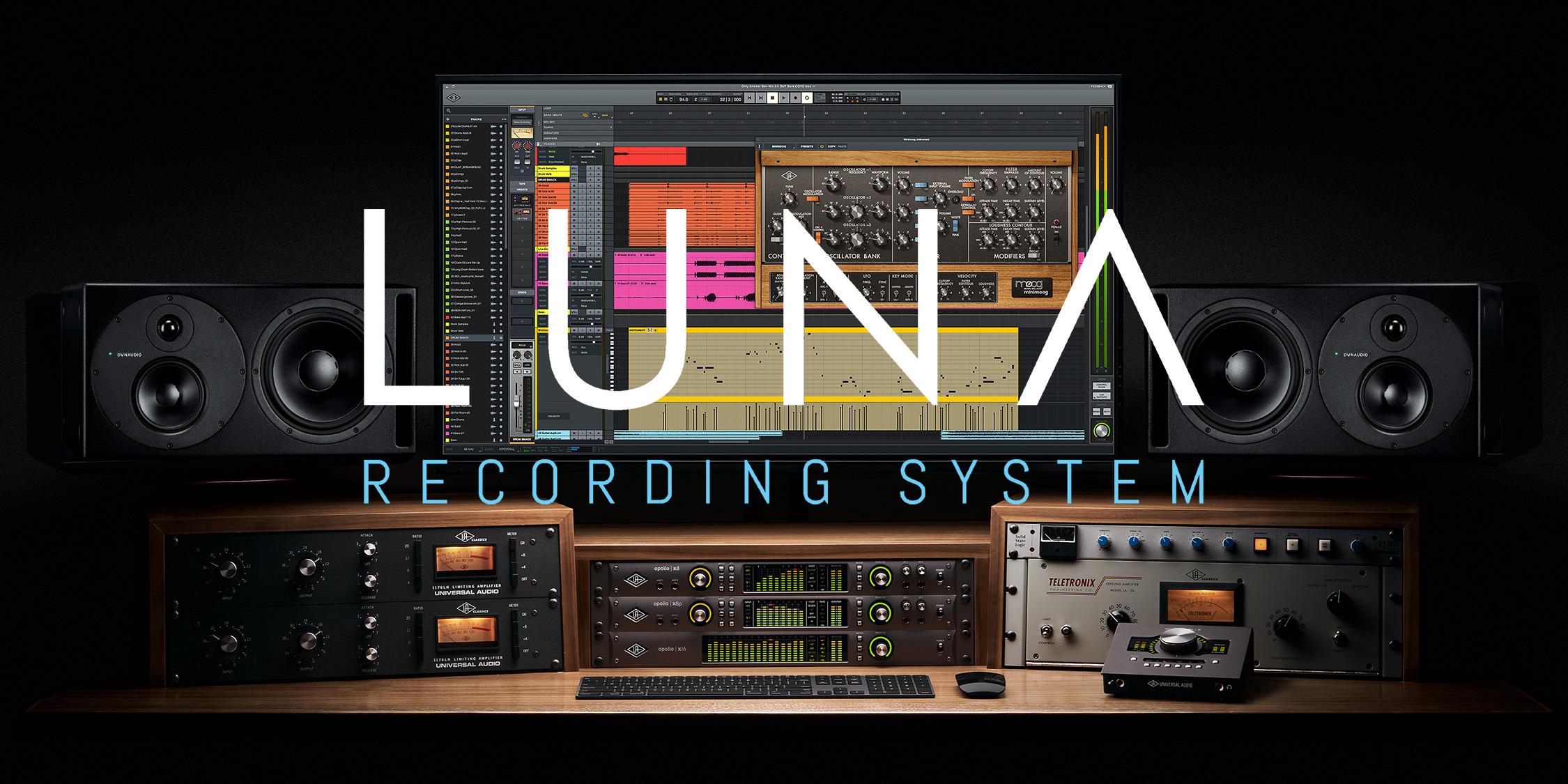 Universal Audio LUNA – Nu tillgängligt för alla Apollo Thunderbolt-användare